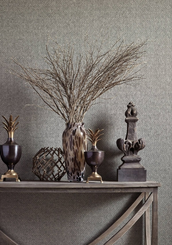Обои Thibaut Grasscloth Resource IV T72856 Beverly Hills wallpaper in Charcoal